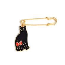 Hitam Putih Pasangan Kucing Pin Aku Suka Kucing Lucu Bros Lencana Tas Aksesoris Enamel Pin Perhiasan Festival Hadiah untuk Kekasih teman(China)