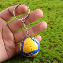 Llavero Mini PVC de voleibol llavero deporte llavero regalo coche bola llavero anillo para equipo deportivo para hombres mujeres llavero regalo de Cumpleaños(China)