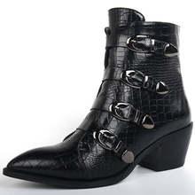 Karinluna 2019 Thương Hiệu Mới Mùa Đông Size Lớn 42 chất lượng hàng đầu Giày người phụ nữ Giày tây nữ khóa cài mắt cá chân Giày n(China)
