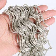Mtmei שיער זיזי צמות סרוגה תיבת צמות שיער 28 Inch צבעוני סינטטי קולעת תוספות שיער ורוד סגול אפור זיזי צמות(China)
