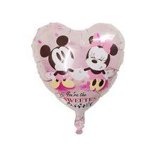 10 pçs 18 polegada coração mickey minnie mouse folha balões chuveiro do bebê festa de aniversário decoração de casamento crianças brinquedos clássicos suprimentos(China)