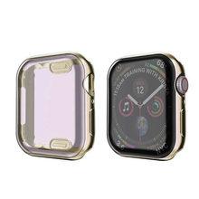 Funda de reloj para Apple Watch series 5 4 3 2 1 Correa 42mm 38m 40mm 44mm Slim TPU caso Protector para iWatch 4 44mm(China)