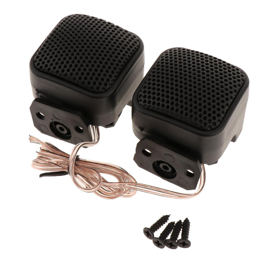 2 Pack Car Silk Square Tweeters Car Audio Speakers Treble Stereo Audio Loudspeaker, 4ohms Low Impedance and Max. 500W Power