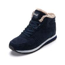 Mannen laarzen mannen Winter Schoenen Mode Snowboots Schoenen Plus Size Winter Sneakers Enkel Mannen Schoenen Winter Laarzen Zwart blauw Schoeisel()