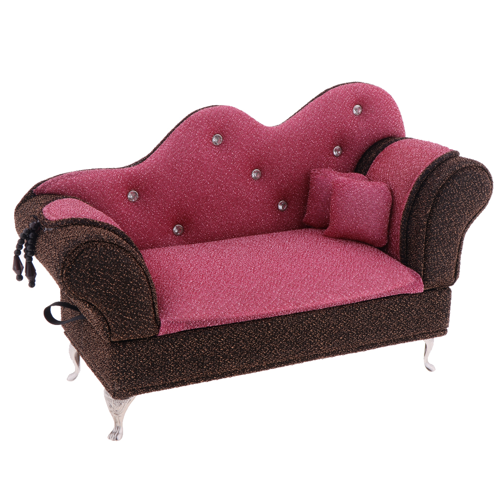 1/6 Scale Sofa Chair (Openable) for Dollhouse Living Room or Bedroom Decor, 12inch Dolls Accessories, Furniture for Blythe