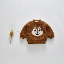 יפה תינוק ילד ילדה סוודר בני מעיל 2019 חורף חם ילדי מעיל חולצות ילדי בגדי סוודר ילד ילדה ילד בפלאש בגדים(China)