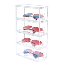 Multi-Layer Lipstick Box Acrylic Lipstick Holder Case Cosmetics Storage Makeup Glasses Organizer Nail Polish Display Stand Rack(China)