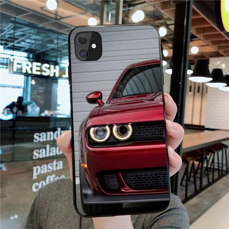 NBDRUICAI – coque de téléphone Super voiture Dodge Challenger Srt, étui pour iPhone 11 pro XS MAX 8 7 6 6S Plus X 5s SE 2020 XR
