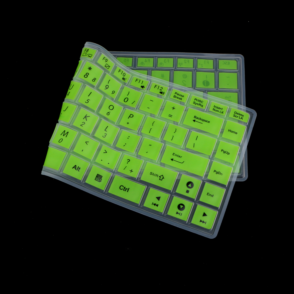 Waterproof Silicone Keyboard Protector SKin Cover for ASUS K40 P80 P81 Green