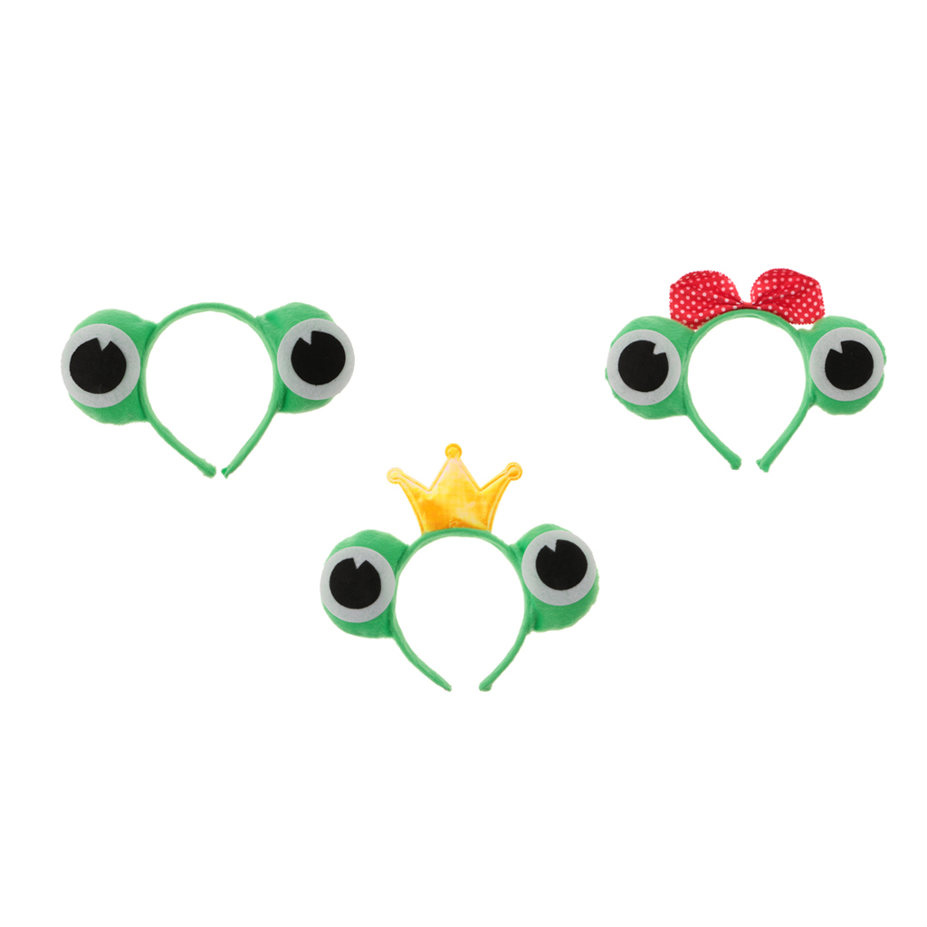 3pcs Headband Frog Disguise Party Halloween For Adults Children Costume