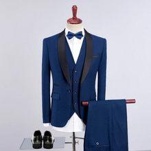 2020 элегантный роскошный мужской костюм свадебные платья для жениха новейший дизайн пальто брюки блейзер мужской классический 3 шт мужской ...(China)