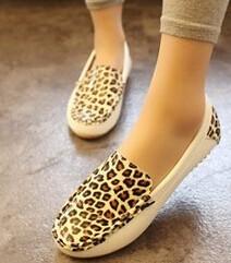 Европа женщины мода леопард обувь Мужская мода sexy обувь мокасины женщин квартир
