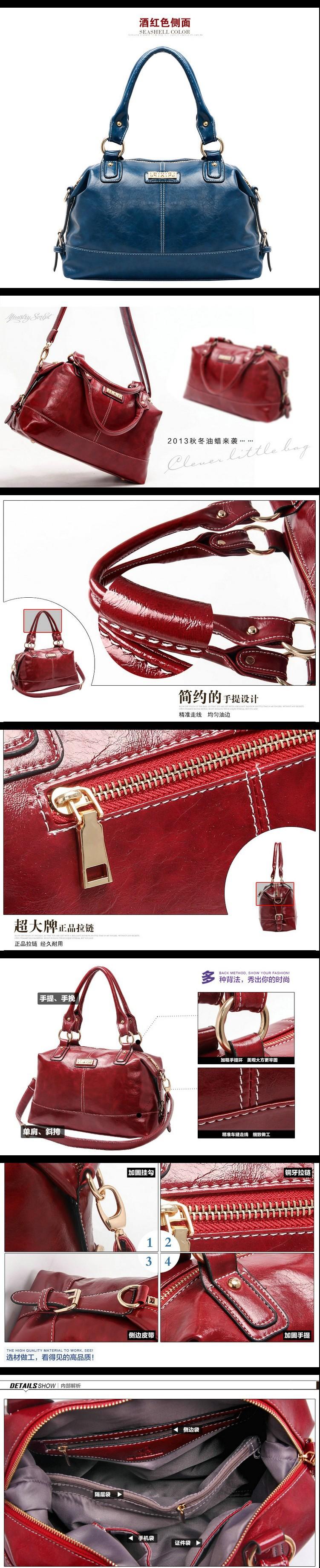 HOT 2014 Fashion Women Genuine Leather Handbags Famous Brand Cowhide