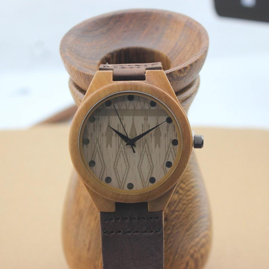 Дизайн бренда мужские бамбук наручные часы с подлинной натуральной кожи группа роскошные дерева часы для мужчин и женщин приятные подарки элементы