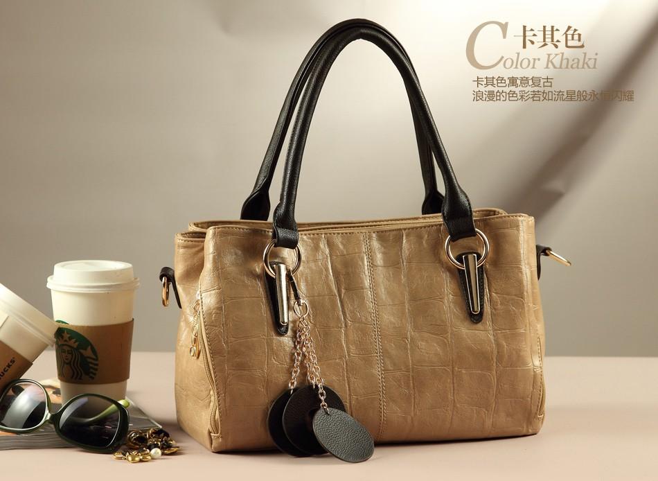 2014 Fashion Designer Brand Handbags Cowhide Genuine Leather Bags For