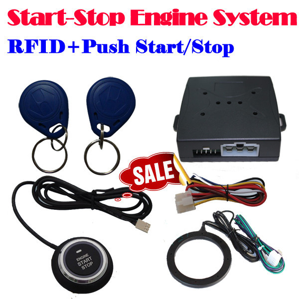 Car engine push start button