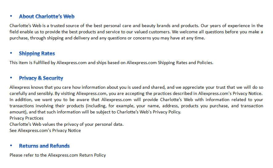shop policy no.5