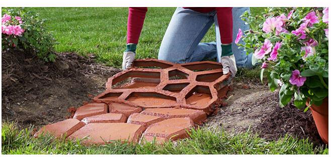 Sterke verpakking gratis verzending tuin gereedschap pad mate diy stenen bestrating mal voor het - Tuin oprit plaat ...