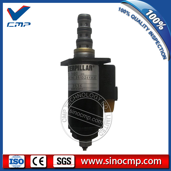 E320C 320C Excavator Hydraulic Pump Solenoid Valve 121-1490 (blue point)