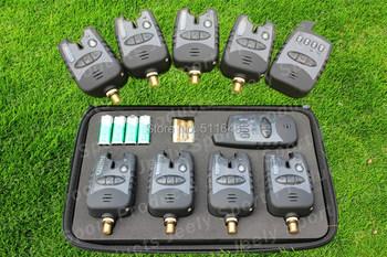 Free Shipping JY-38 Wireless waterproof 8 LED carp fishing bite alarm set
