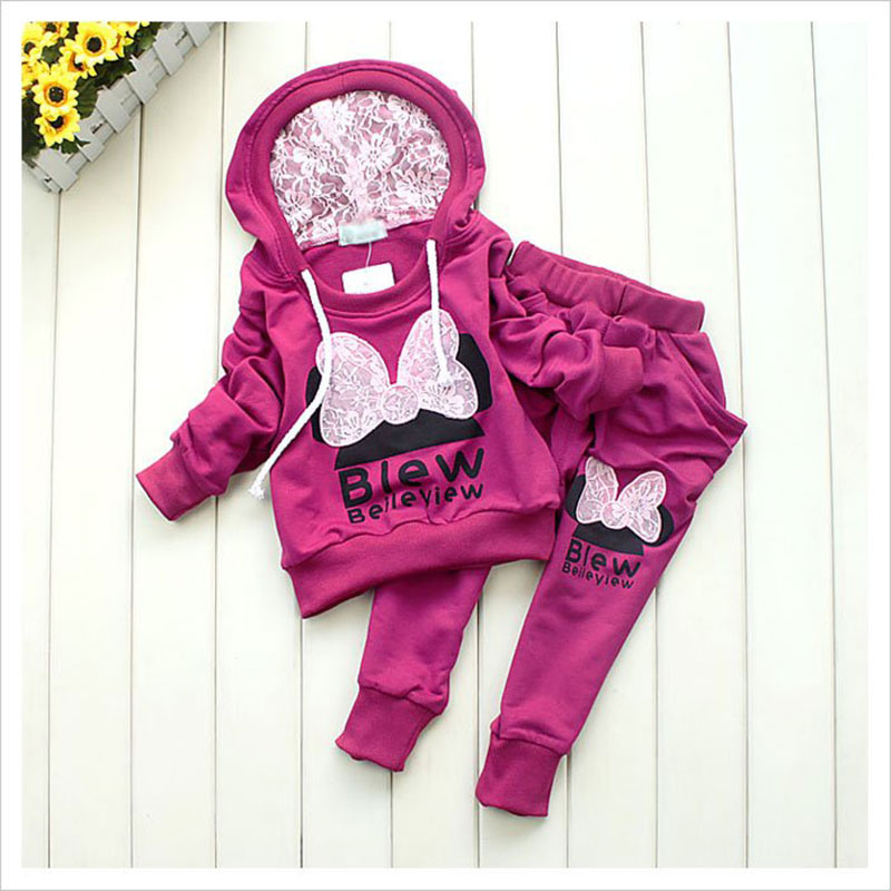 Brand 2015 New children boys girls winter clothing suit tracksuit Sports jacket+pants sets suits - Child in my home store