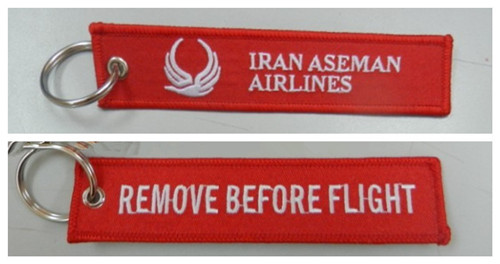 Remove Before Flight Iran Aseman Airlines Fabric Embroidered Key Tags(China (Mainland))