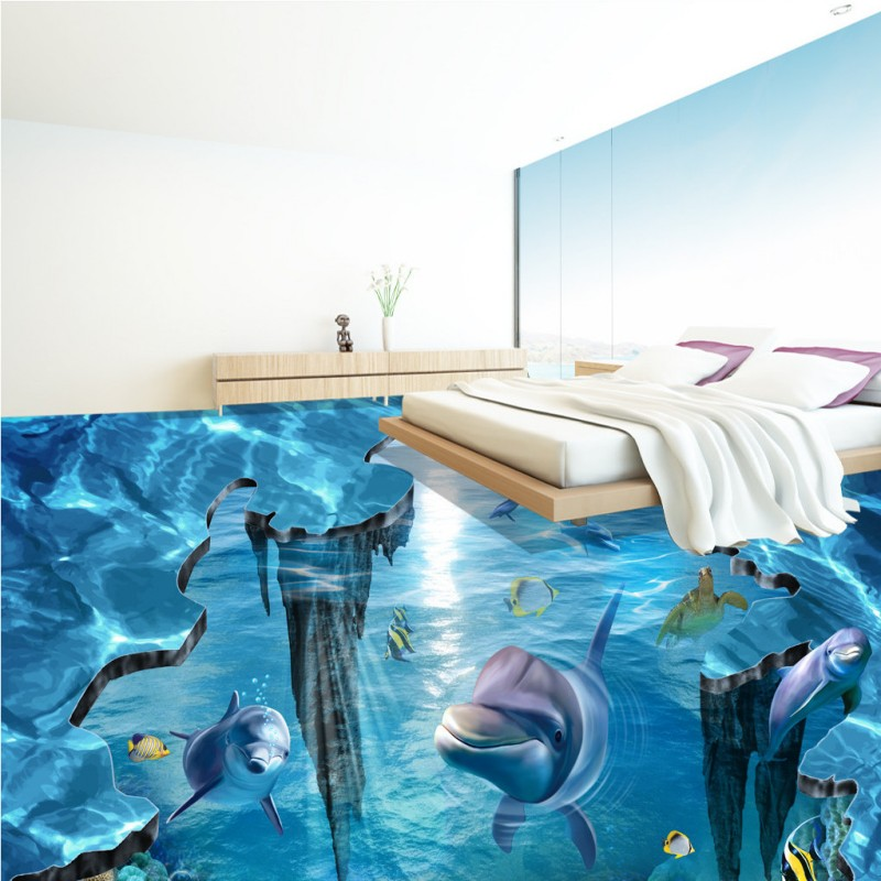 Painting aquarium promotion shop for promotional painting for 3d aquarium wallpaper for bedroom