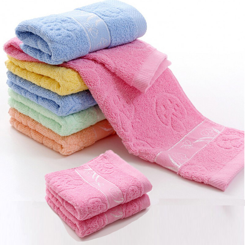 Bathroom High Absorbent 100% Cotton Face Towel Hand Towel For Home Outdoor and Travel 34*70CM(China (Mainland))
