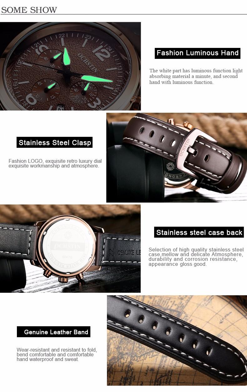 2016 Luxury Brand Мужчины Спортивные Часы мужские Кварцевые Часовой Рабочий День дата Часы Мужчины Повседневная Часы Кожаный Ремешок Военный Наручные часы