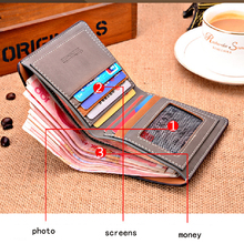 New 2015 men wallets famous brand mens wallet male money purses with simple Wallets New Design