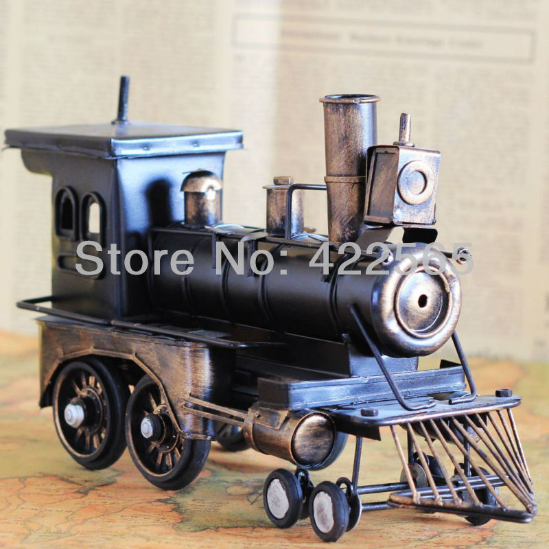Vintage Style Locomotive Model Metal Train Model Iron Steam Train Toy Handcraft Treasure Memory of old times Decoration #51031(China (Mainland))