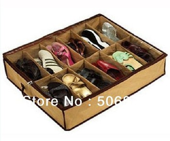 Wholesale Closet Organizer Under Bed Storage Holder Box Container Case Storer For 12 Shoes Free shipping