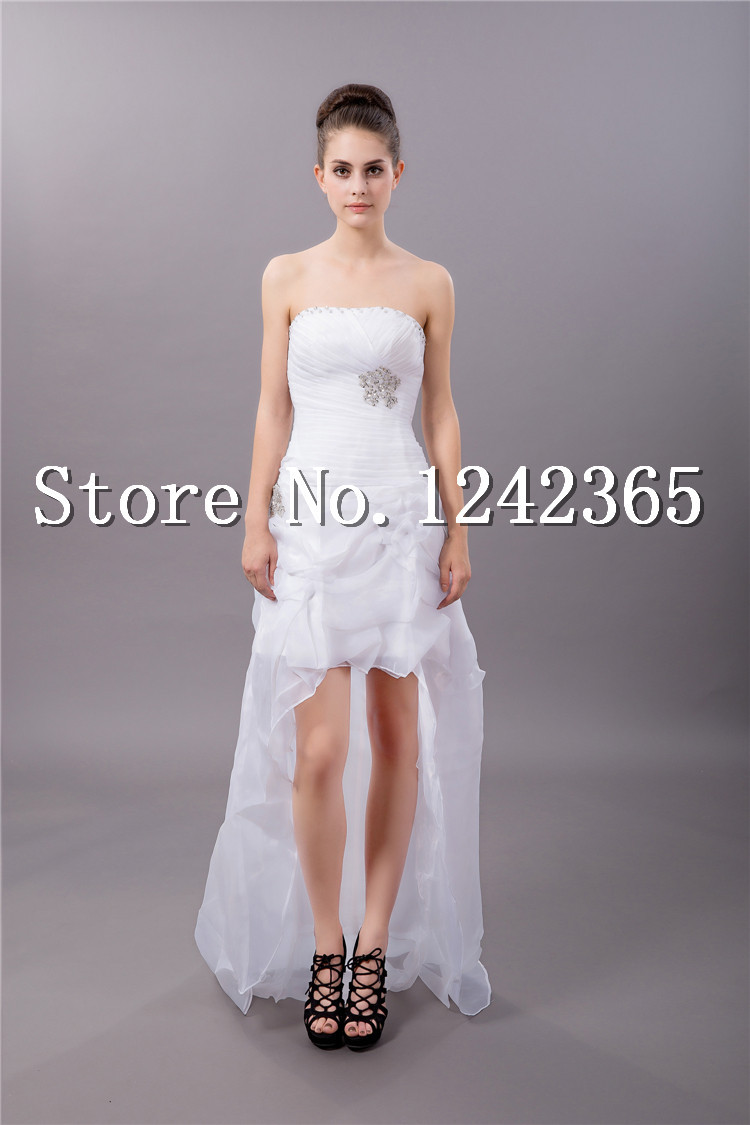 2014 plus size wedding dresses high low simple wedding for Petite wedding dress designers