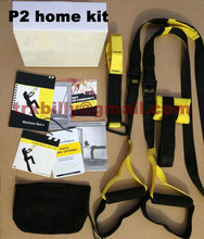 1pcs Free drop P2 home kit sports exercise fitness strength training equipment +logo+workout guide+door anchor+xtender+carrybag