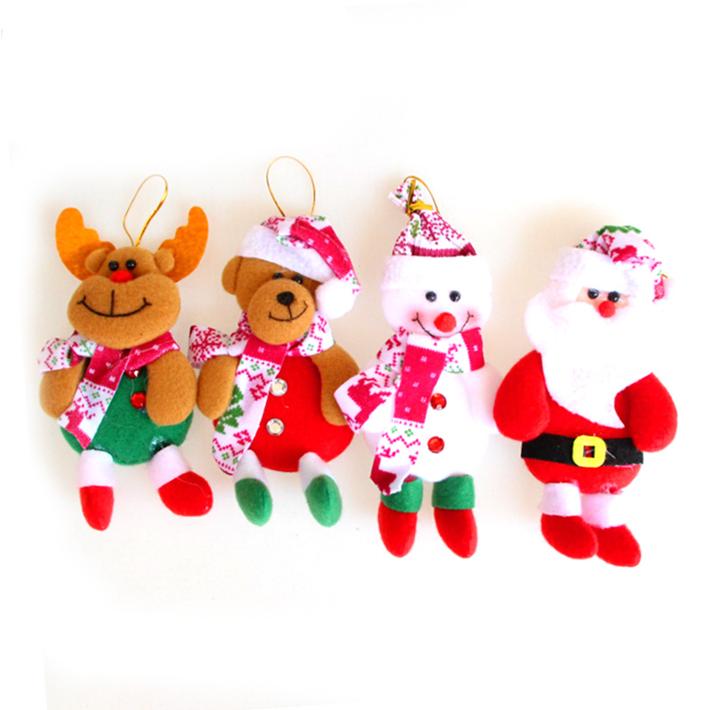 1PC Christmas tree decorations for home Xmas decoration lovely new Year gifts Santa Claus ornaments Snowman bear elk doll Supply(China (Mainland))