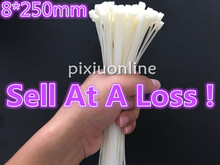 Buy 50Pcs/pack DS176B 8*250mm Width 5.1mm Factory Standard Self-locking White Nylon Cable Ties Wire Zip Tie Sell Loss USA for $1.69 in AliExpress store