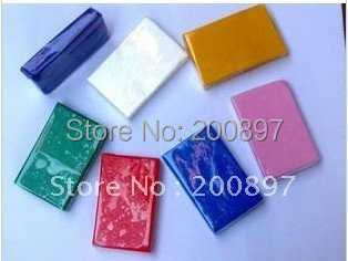 Wholesale Shipping,Colorful Soft Polymer Modelling Clay size 7*4*1 cm 50g per piece 20pcs/lot(China (Mainland))