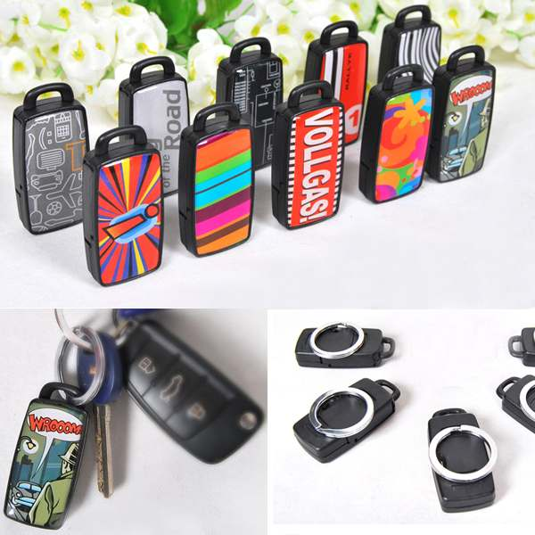 3PCS Wholesale Mixed Pattern Remote Key Finder Locator Find Lost Keys Keychain Whistle Sound Control Keyring(China (Mainland))