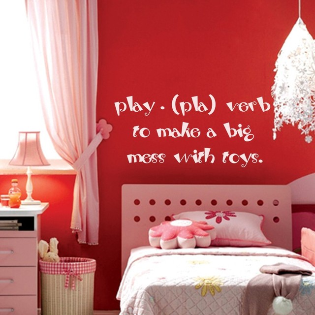 Playroom decals wall