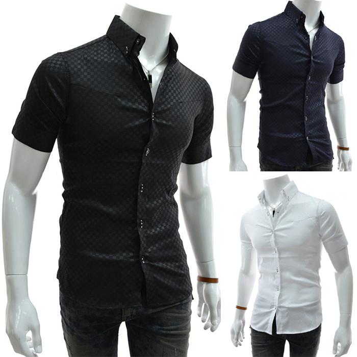 hombre gomlek casual uomo roupas blusas plain short sleeve camisas masculina slim mens dress shirts XXXL  -  DT boutique store