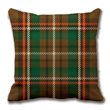 Williams Tartan Throw Pillow Case Decorative Cushion Cover Pillowcase Customize Gift High-Quility By Lvsure For Car Sofa Seat