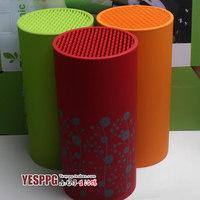 Green/Orange Knife Holder Fashion Multifunctional Plastic Kool Holder Knife Block Sooktops Tube Kitchen Shelf Chromophous
