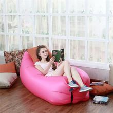 Große Größe Strand Portable Outdoor Aufblasbare Knochen Möbel Sofa Hängematte Schlafen Camping Luftbett Nylon Faul Luft Sofa Tasche(China (Mainland))