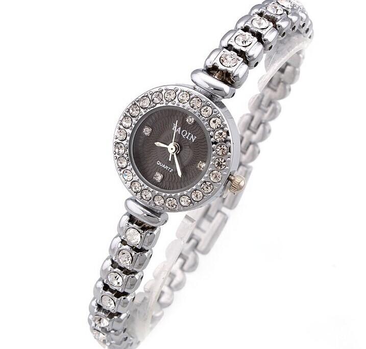 women wristwatch fashion casual quartz watch diamond-encrusted watches alloy bracelet black white - Fashion forward store