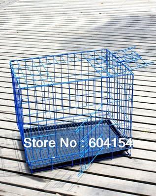 Azul color de hierro alambre de acero también se puede utilizar como jaula del conejo jaula de perro y gato jaulas de 35x26x34 cm(China (Mainland))