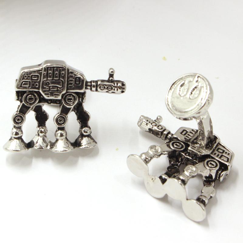 Star Wars 7 AT-AT All Terrain Armored Transport Cufflinks For Mens Vintage Metal Shirt Brand Cuff Buttons Best Friend Cuff Links<br><br>Aliexpress