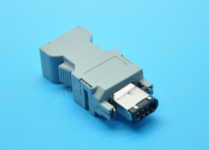 Molex 54280-0609 Female Connector 6 Pin USB 1394 for Yaskawa Panasonic Servo Motor Encoder 6P NEW(China (Mainland))