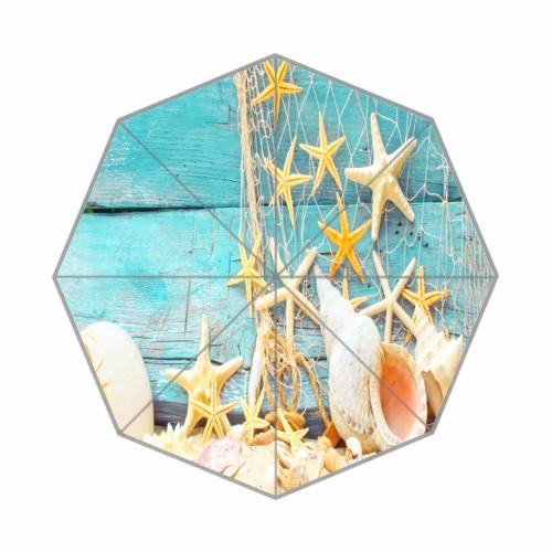 Beautiful custom Conch and starfish umbrella beach umbrella kazbrella umbrella outdoor umbrella(China (Mainland))