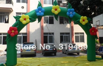 2013 hot sale inflatable flower arch+free CE/UL blower