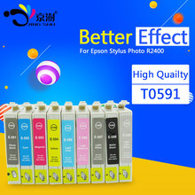 Buy 9pcs/set compatible ink cartridge T0591 T0592 T0593 T0594 T0595 T0596 T0597 T0598 T0599 for Epson Stylus Photo R2400 printer for $26.30 in AliExpress store